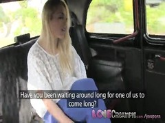 Love Creampie Blonde English sluts taking cash for sex from taxi driver Thumb