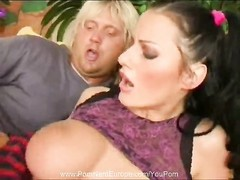 European With Pigtails Fucks Wild Thumb