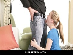 PunishTeens - Blonde Teen Wants To Get Spanked by Daddy Thumb