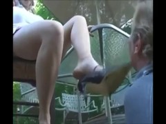 young princess use old male feet slave Thumb