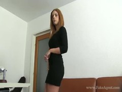 Hot natural girl shows off her ass in the video by Fake Agent Thumb
