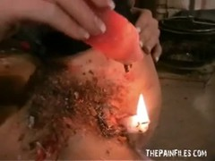 Bizarre blondes self tormenting hot waxing and kinky Crystel Thumb