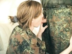 German Army girl makes him cum twice Thumb