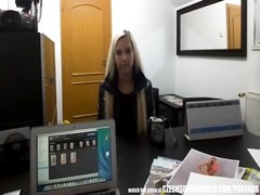 Blonde Model Sucks Agent for a Better Job Thumb