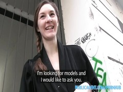 PublicAgent Skinny Brunette Pounded by a big Czech cock Thumb