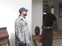 Two black guys wake up a wife and fuck her Thumb