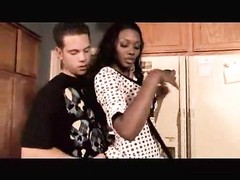 Black housewife seduces him in her kitchen Thumb