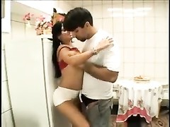 Kitchen sex with housewife that loves anal Thumb