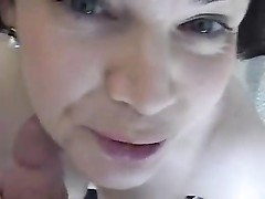 Wife cheats by sucking cock for cum Thumb