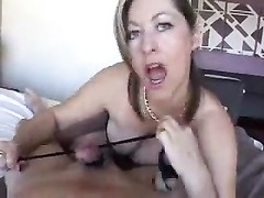 Sexy wife with big tits gives handjob Thumb