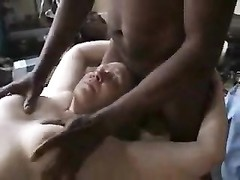 Naked black man massages chubby wife Thumb