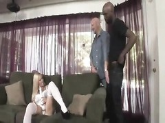 Cuckold watches wife suck black cock Thumb