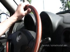 Amateur Public Blowjob&Doggystyle. Brunette Sylvia Chrystall as Lena Headey Thumb