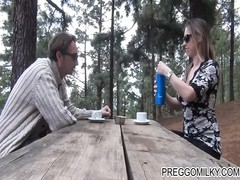 lactating amateur MILF outdoor teaparty Thumb