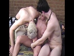 Carol Cox with two male fans, hard anal, and lots of fun! Thumb