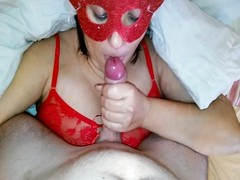 Step Mom Cum in mouth New Year Christmas Mom And Step Son Thumb