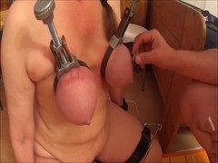 tortured her tits with rubberbands Thumb