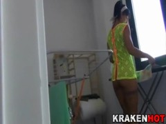 Voyeur, look at this wife's pussy cleaning in a xxx video Thumb
