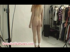 Backstage video with czech redhead newbie Thumb