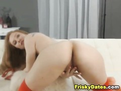 Cute Redhead Playing with Herself Thumb
