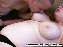 Chubby amateur girlfriend sucks and fucks at home Thumb