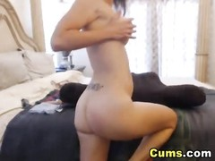 Busty Lady Strips and Masturbates Thumb