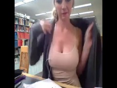 Sandra Shows her Boobs in Library Thumb