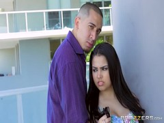 Black-haired beauty Ada Sanchez swallows a juicy boner Thumb
