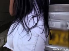 Round ass Camila gets fucked after car washing Thumb