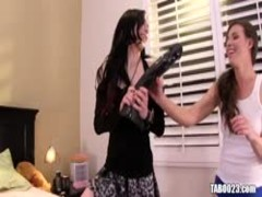 Aiden Ashley and Casey Calvert using dildos Thumb